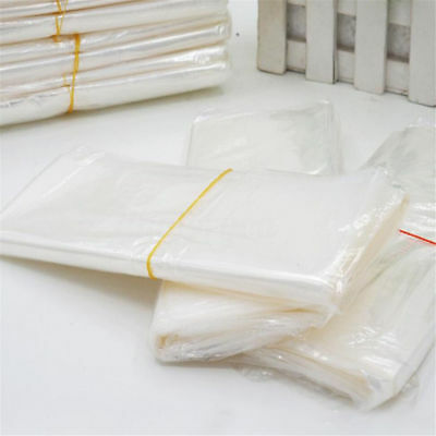 100/200pcs POF Shrink Film Wrap Bags Transparent Heat Seal Pouch Gift Packing