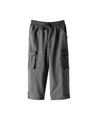 Toddler Boys Cargo Pants 100% Twill Cotton 4 Pockets Ripstop Ribbed Waist 3T 5T