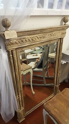 french antique rustic column chateaux mirror