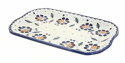 Sunflower Small Rectangular Tray Polish Pottery
