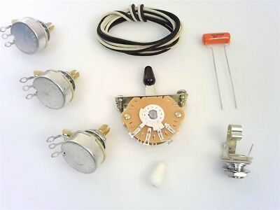 True Custom Shop® 500K Wiring Kit for Fender Stratocaster Strat CTS Switchcraft