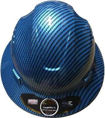 HDPE-Hydro-Dipped-Blue-Full-Brim-Hard-Hat-with-Fas-trac-Suspension  HDPE-Hydro