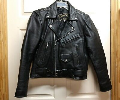 American Top Genuine Leather Motorcycle Jacket Size Medium 40