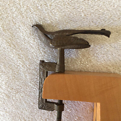 Antique Sewing Bird small Finished Wooden Stand