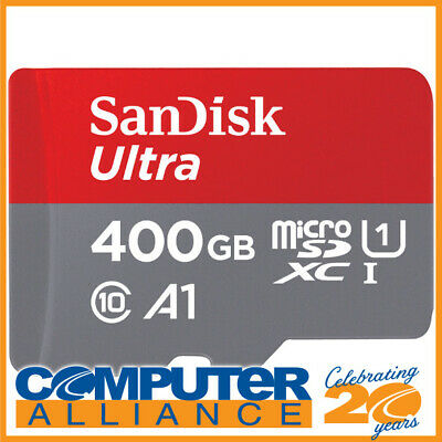 400GB SanDisk Ultra microSDXC UHS-I U1 Class 10 Card SDSQUAR-400G-GN6MA with SD