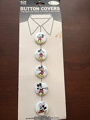 """Vintage 1"""" Mickey Mouse Button Covers by OSP"""