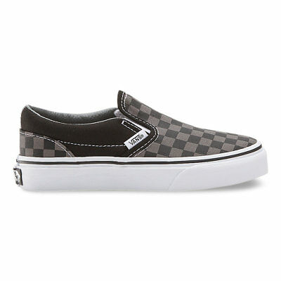 475d456699 VANS KIDS CLASSIC Slip-On (Checkerboard) Black Pewter Size 11-4 Fast ...