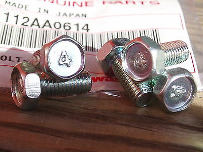 Kawasaki NOS H1,H2,KH,S1,S3 bolts no#4, 5pcs, Seat,frame,chassis,stands 112B0614