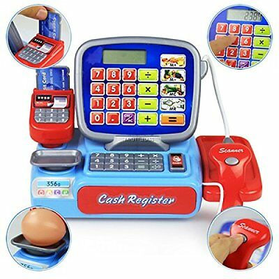 Electronic Multi Functional Supermarket Cash Register Pretend Play Toy for kids
