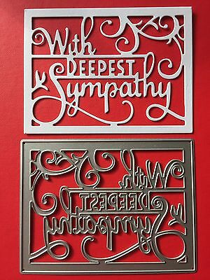 NEW• WITH DEEPEST SYMPATHY FRAME DIE For Sizzix Or Cuttlebug