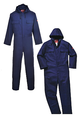 Portwest Bizweld Hooded Welder Coverall Overall Boiler Suit Flame Resistant BIZ6