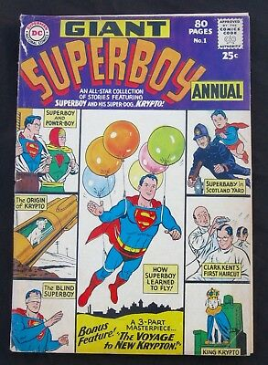 SUPERBOY ANNUAL #1 - Power-Boy - Superbaby (DC 1964) 4.0 VG