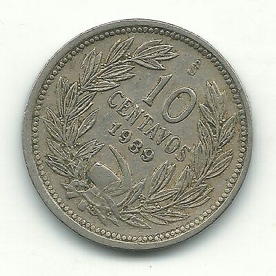 A High Grade 1939 S Chile 10 Centavos Coin-Defiant Condor On Rock-Nov428