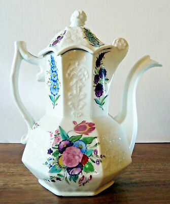 Antique Coalport Bone China Coffeepot / Teapot, with Superb Detailing