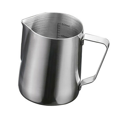 Baoblaze 600ml Stainless Steel Coffee Frothing Milk Tea Latte Jug with Scale