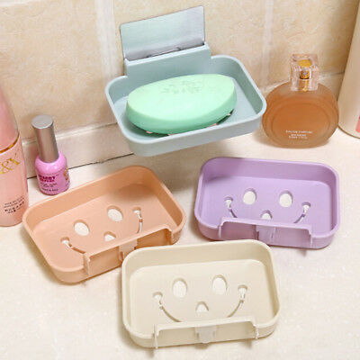 Bathroom Shower Soap Box Dish Storage Plate Tray Holder Case Suction Container