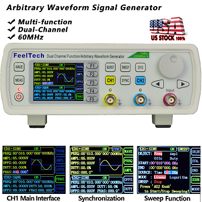 60MHz Function / Arbitrary Waveform Pulse Analog / Digital Generator VCO Sweep
