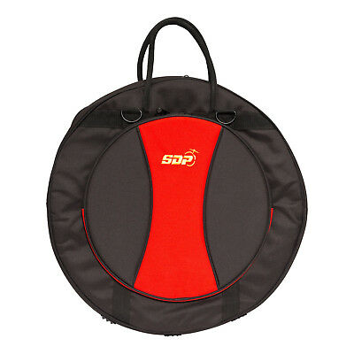 New Sonic Drive Deluxe Padded Cymbal Carry Bag Case Drum Kit (Black with Red)