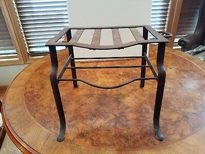 Antique Iron Hearth Stand