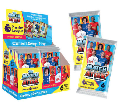 TOPPS Match Attax 2017/18 EPL Premier League Trading Cards Sealed Packs X 10