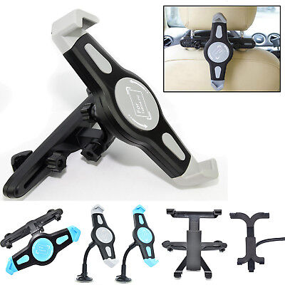 360° Rotating Car Back Seat Headrest Holder Mount For iPhone iPad Samsung Tablet