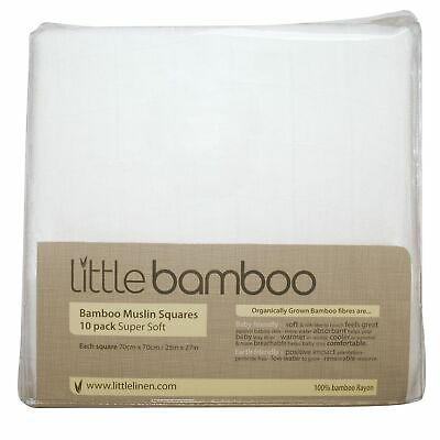 Little Bamboo Baby / Child / Kids Muslin Squares - 10 Pack