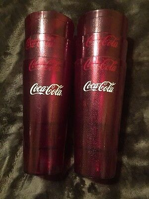 Red Coca-Cola 6 Restaurant Textured 24oz. Plastic Tumbler  G E.T.