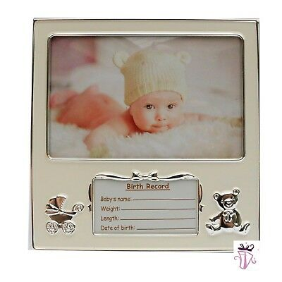 Baby Birth Record  Photo Picture Frame Newborn Baby shower Girl Boy Gift