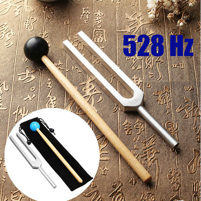 528Hz Aluminum Medical Tuning Fork Chakra Hammer Ball Diagnostic + Mallet Set