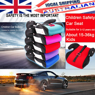 Safe Sturdy Baby Kid Children Toddler Car Booster Seat Pad For 3-12 Years Old