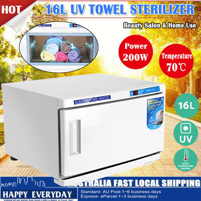 16L Facial Towel Warmer UV Sterilizer Cabinet Disinfection Heater Spa Salon Hot