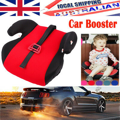 Safe Soft Sturdy Baby Kids Children Car Booster Seat Fit About 3 To 12 Years Red