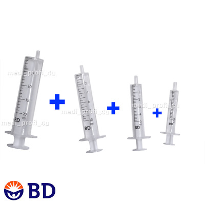 CHOICE OF QTY & MIX OF: 2ml + 5ml + 10ml + 20ml BD SYRINGES INK REFIL CYCLE FAST