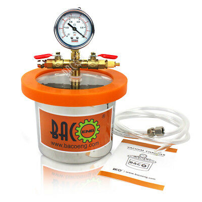 BACOENG Universal 2Quart Stainless Steel Mini Vacuum Chamber