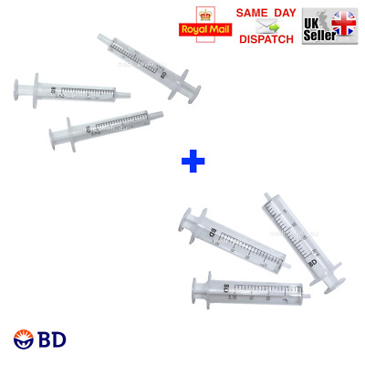CHOICE OF QTY & MIX OF 2ml + 20ml BD SYRINGES STERILE INK REFILL CYCLE FAST SHIP