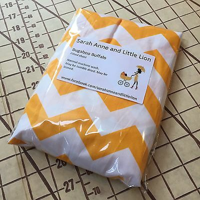 Bugaboo Buffalo fitted sheet for carrycot bassinet Yellow Chevron