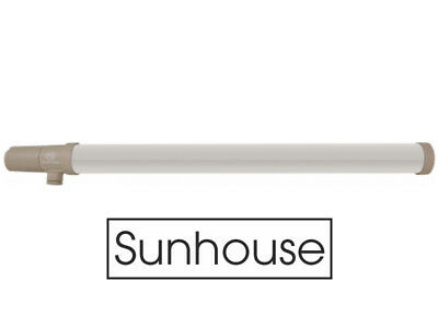 Sunhouse 80W Low Energy Eco Tubular Heater - 2ft Tube - Built In Stat Thermostat