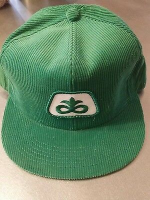 Vintage PIONEER SEEDS FARM HAT mesh style K-Products corduroy