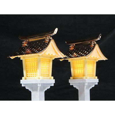 LED small Lanterns copper style altar God shelf 19cm with remote control