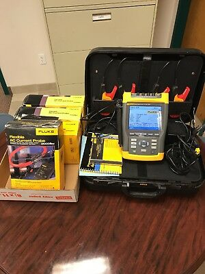 Fluke 434 Power Quality Analyzer + 4 flexible AC current probes up to 2000 amps