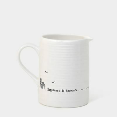 EAST OF INDIA Happiness is homemade Small Porcelain Milk Jug Home / Gift