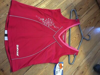 Girls Babolat Tank Top, Tennis, Sports Wear, Size 14 Years/ 164cm, Red