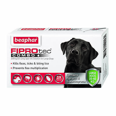 Beaphar FIPROtec Combo Spot On For Dogs Large Dog 3 Pipettes
