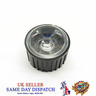 20mm View Angle Condenser Light LED Optical Lens Black Holder Different Degrees