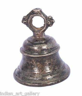 Rare Vintage Handicraft High Age Brass Ritual Temple Bell, Good Sound. i9-27