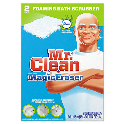 "Mr. Clean Magic Eraser Bathroom Scrubber 4 1/2"" x 3 1/5"" 2/Box 16 Boxes/Carton"