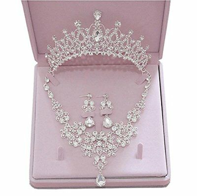 Ever Girl Wedding Jewelry Sets Bling Bride Hair accessories Tiaras Earrings