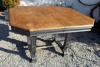 antique French oak dining table kitchen table