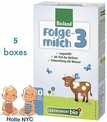 Holle Lebenswert Stage 3 Organic Baby Formula 5 Boxes 475g Free Shipping