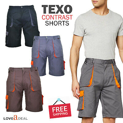 Portwest Texo Contrast Combat Cargo Work Shorts Trousers Pants Tool Pockets TX14